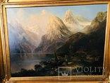 "Картина ""Горная река"" худ. Кoken Edmund 1814-1872 г photo 2"