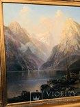 "Картина ""Горная река"" худ. Кoken Edmund 1814-1872 г photo 3"