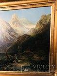 "Картина ""Горная река"" худ. Кoken Edmund 1814-1872 г photo 5"