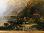 "Картина ""Горная река"" худ. Кoken Edmund 1814-1872 г photo 9"