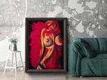 Красная страсть (масло/холст) 60х80 см, фото №7