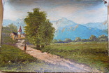 Картина Європа картон олія підпис