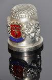 Коллекционный оловянный наперсток с гербом, фото №4