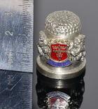 Коллекционный оловянный наперсток с гербом, фото №8