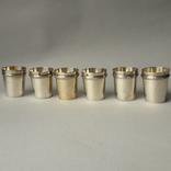 6 стопок на 40 мл, серебро, 124 грамма, Франция, фото №2