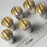 6 стопок на 40 мл, серебро, 124 грамма, Франция, фото №10