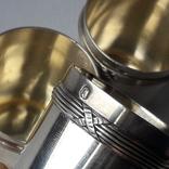 6 стопок на 40 мл, серебро, 124 грамма, Франция, фото №11