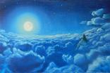 """""""Лунное дитя"""" масло, холст на подрамнике 60*40см, 2014г. Автор Янишевская Ю.В."""