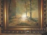 Антикварна картина Українська Джульєтта(пастораль) в розкішній рамі, фото №5