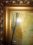 Антикварна картина Українська Джульєтта(пастораль) в розкішній рамі, фото №6