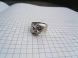 Кольцо из белого золота с масонской символикой фото 1