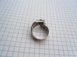 Кольцо из белого золота с масонской символикой фото 4