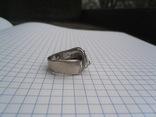 Кольцо из белого золота с масонской символикой фото 7