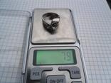 Кольцо из белого золота с масонской символикой фото 11