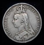 Великобритания крона 1890 серебро, фото №2