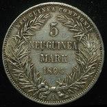 Германская Новая Гвинея 5 марок 1894 серебро фото 2