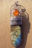 Таблетница серебро, лабрадорит., фото №11