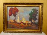 """Картина С. Григорьев """"Вид на монастырь вечером"""" 2004"""