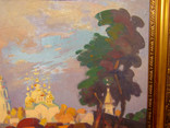 """Картина С. Григорьев """"Вид на монастырь вечером"""" 2004, фото №5"""