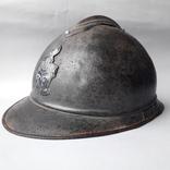 Каска Адриана 1915 года, кокарда французских военных инженеров photo 1