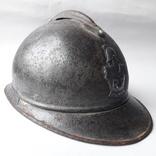 Каска Адриана 1915 года, кокарда французских военных инженеров photo 3