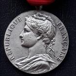 Франция, Почётная Медаль Труда, серебро, 10- грамм photo 2