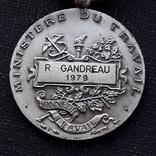 Франция, Почётная Медаль Труда, серебро, 10- грамм photo 8