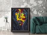 Портрет девушки (масло/холст) 60х80 см, фото №7