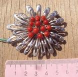 Брошь с красным кораллом., фото №3