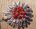 Брошь с красным кораллом., фото №5