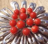 Брошь с красным кораллом., фото №8