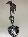 Большой кулон на серебристо-золотистой цепочке, фото №2