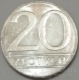 Польща 20 злотих, 1989