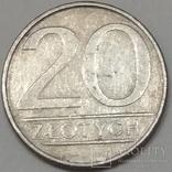 Польща 20 злотих, 1986