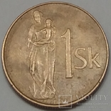 Словаччина 1 крона, 1993 фото 1
