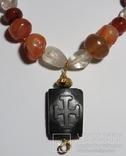 Византийская вервица( чётки) с камеей '' Иоанн  Креститель.'', фото №3