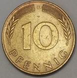 Німеччина 10 пфенігів, 1990