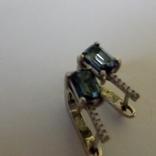 Сережки з танзанітами, фото №4