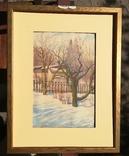 Рисунок зимний пейзаж 1983г