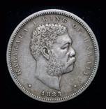 Гавайи 1/2 доллара 1883 серебро фото 4
