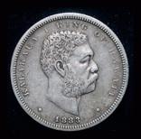 Гавайи 1/2 доллара 1883 серебро