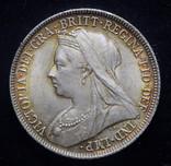 Великобритания шиллинг 1897 Unc серебро фото 3