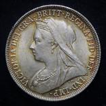 Великобритания шиллинг 1897 Unc серебро фото 4