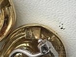 Золотые серьги с бриллиантами Италия, фото №8