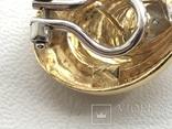 Золотые серьги с бриллиантами Италия, фото №9