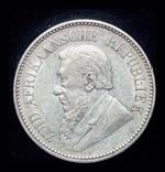 ЮАР 2 1-2 шиллинга 1895 серебро photo 2