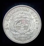 ЮАР 2 1-2 шиллинга 1895 серебро photo 1