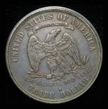 США торговый доллар 1877 S фото 2