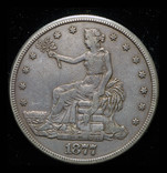 США торговый доллар 1877 S фото 3