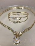 """Бриллиантовое колье и браслет """"Jaylan Juwelier"""" 585 пробы золота, фото №2"""